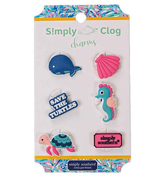Simply Southern Women Clog Charms - Save The Turtles Oceans - Whale Seahorse