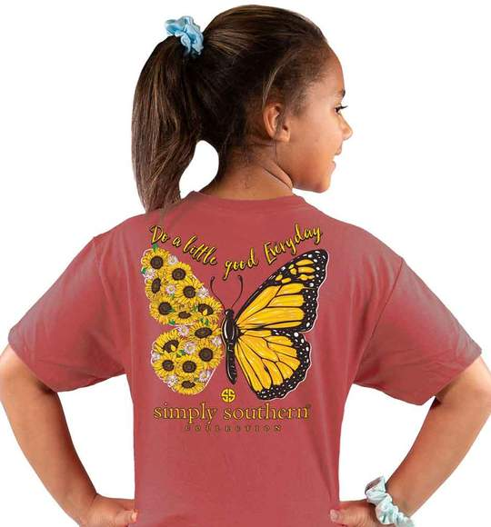 Simply Southern Youth T-Shirt - Butterfly - Do A Little Good Everyday