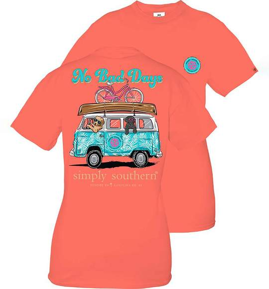 Simply Southern Youth T-Shirt - Dog In Van - No Bad Days