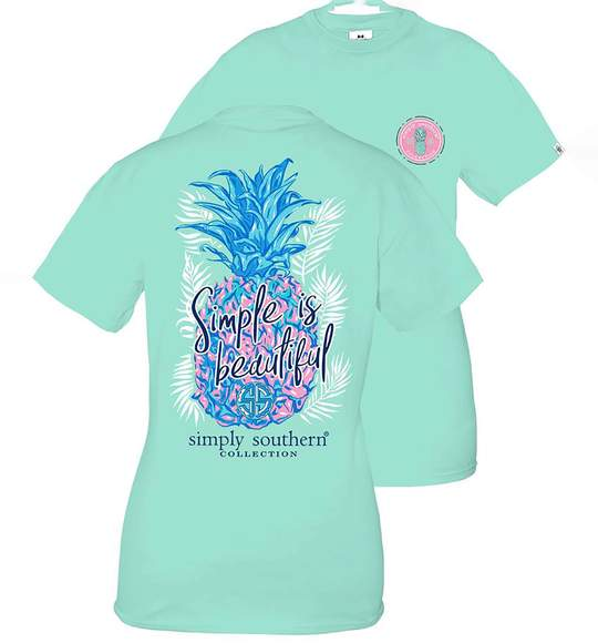 Simply Southern Youth T-Shirt - Pineapple - Simple Is Beautiful