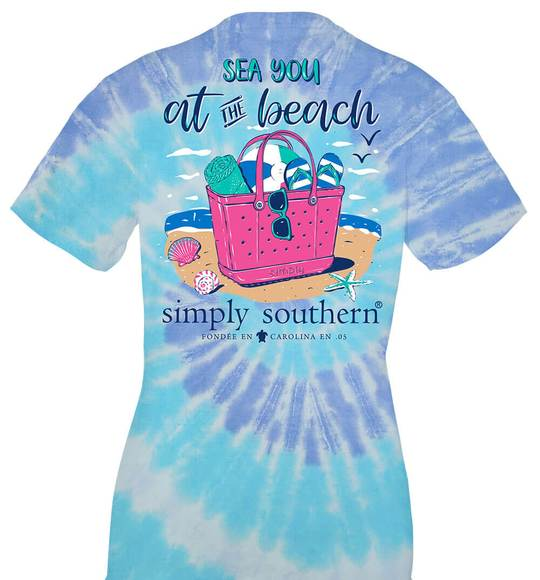 Simply Southern Youth T-Shirt - Sea You At The Beach - Ice Pop