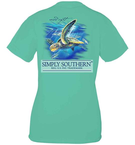 Simply Southern Youth T-Shirt - Turtle Deep Sea - Green Sea