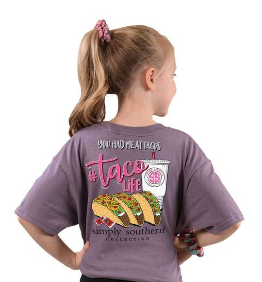 Simply Southern Youth T-Shirt - You Had Me At Tacos - Taco Life